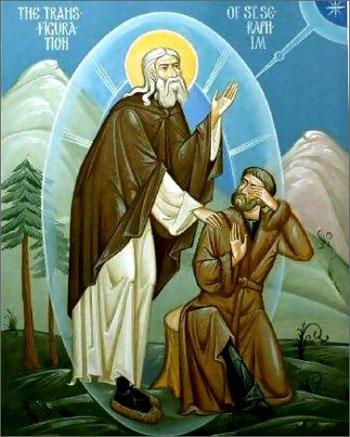 отец Серафим, Мотовилов и ослепительный Свет Нетварный
