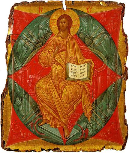 Икона Андрея Рублева «Спас в силах»