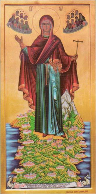 Чудотворная Икона Пресвятой Богородицы «Экономисса или Игуменья горы Афонской»