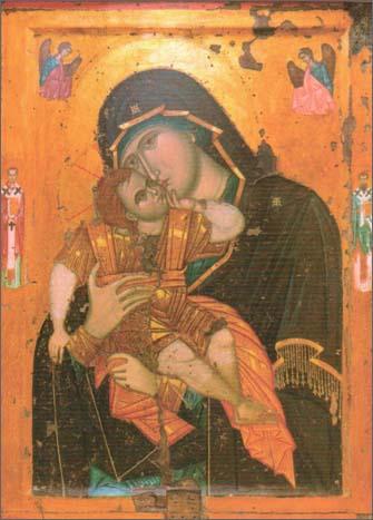Чудотворная Икона Пресвятой Богородицы «Сладкое лобзание» («Гликофилусса»)
