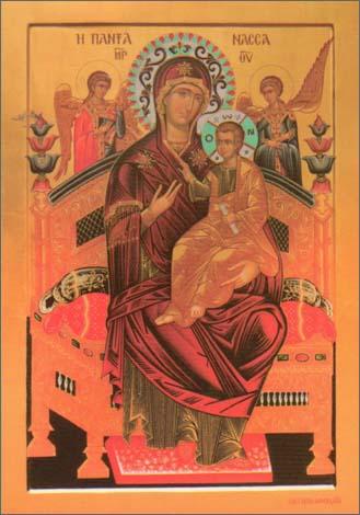Чудотворная Икона Пресвятой Богородицы «Всецарица» («Пантанасса»)